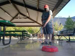 Cleaning at Haven Fellowship Church Workday 2019