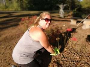 Gardening at Haven Fellowship Church Workday 2019