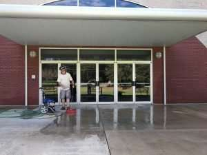 Power-washing at Haven Fellowship Church Workday 2019