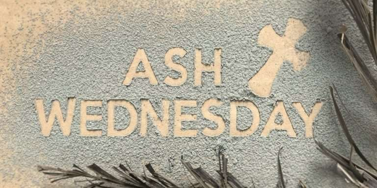 Begin the journey towards Easter with prayer, music, Bible, and ashes in the form of a cross.