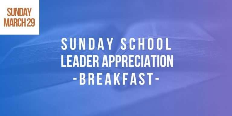 Sunday school leader appreciation