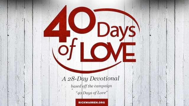 40 days of love bible reading plan